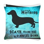 death.png Woven Throw Pillow