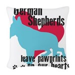 pawprints.png Woven Throw Pillow