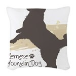 jump.png Woven Throw Pillow