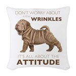 attitude.png Woven Throw Pillow