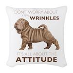 attitude.png Woven Throw Pillow