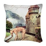 castle.png Woven Throw Pillow