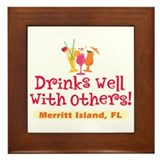 Merritt Island-Drinks Well Framed Tile