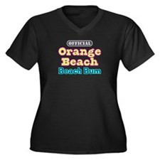 Orange Beach-Beach Bum Women's Plus Size V-Neck Da