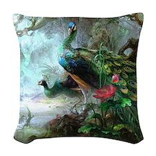 Beautiful Peacock Painting Throw Pillow