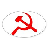 Communist Oval Decal