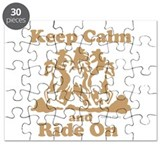 Keep Calm and Ride On Puzzle