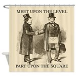 Meeting The Freemason Shower Curtain