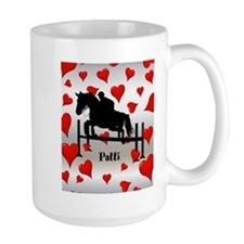 Fun Horse Jumper and Hearts Mug