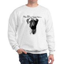 Bullmastiff Happy Face Sweatshirt