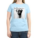 Bullmastiff Happy Face Women's Pink T-Shirt