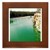 Emerald Waters of Athabasca Lake Framed Tile
