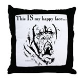 Dogue Happy Face Throw Pillow