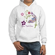 Add Text Colored Peacock Hoodie