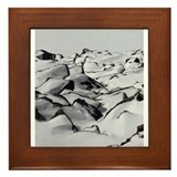 Mountainside rocks Framed Tile