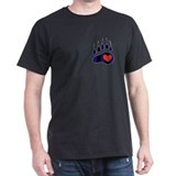Leather Bear Paw T-Shirt