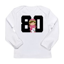 Softball Player Uniform Number 80 Long Sleeve Infa