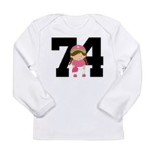 Softball Player Uniform Number 74 Long Sleeve Infa