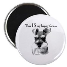 Schnauzer Happy Face Magnet