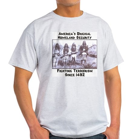 &amp;quot;America's Original Homeland Security&amp;quot; Ash Grey T-