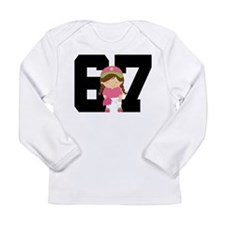 Softball Player Uniform Number 67 Long Sleeve Infa