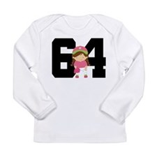 Softball Player Uniform Number 64 Long Sleeve Infa