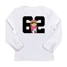 Softball Player Uniform Number 62 Long Sleeve Infa