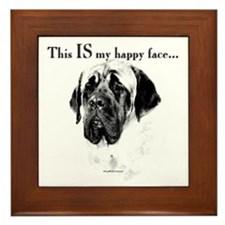 Mastiff Happy Face Framed Tile