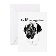 Mastiff Happy Face Greeting Cards (Pk of 10)