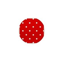 'Cherry Red' Mini Button (100 pack)