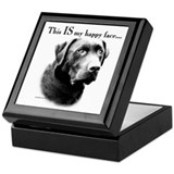 Lab Happy Face Keepsake Box