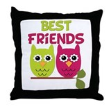 Best Friends Owls Throw Pillow