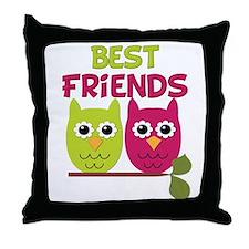 Best Friends Owls Throw Pillow