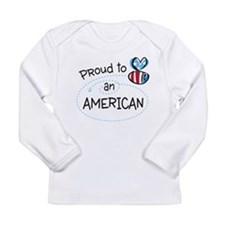 Proud to Bee an American Long Sleeve T-Shirt