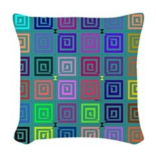 Big Square Woven Throw Pillow