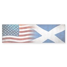 Scottish American Flags Bumper Bumper Sticker