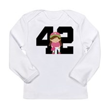 Softball Player Uniform Number 42 Long Sleeve Infa