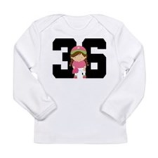 Softball Player Uniform Number 36 Long Sleeve Infa