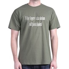 "Latin: ""If you can read this"" Green T-Shirt"