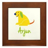 Arjun Loves Puppies Framed Tile