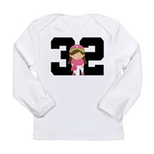 Softball Player Uniform Number 32 Long Sleeve Infa