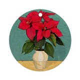 Xmas Van Gogh Poinsettias Ornament (Round)