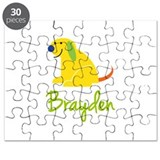 Brayden Loves Puppies Puzzle