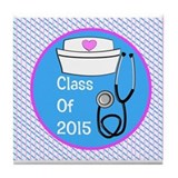 nurse ornament class of 15 PB Tile Coaster