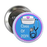 "nurse ornament class of 14 pb 2.25"" Button"