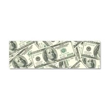 100 Dollar Bill Money Pattern Car Magnet 10 x 3