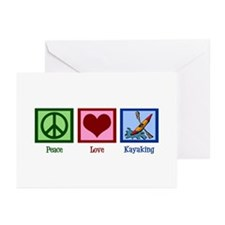 Peace Love Kayaking Greeting Cards (Pk of 20)