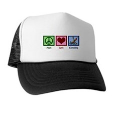 Peace Love Kayaking Trucker Hat
