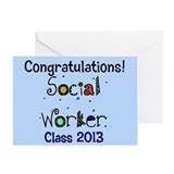 social worker congrats 2013 card Greeting Card