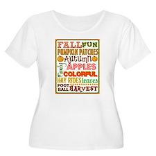 Autumn Subway art Plus Size T-Shirt